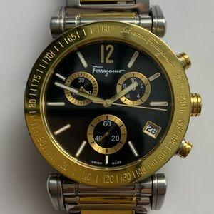 Mens Ferragamo chronograph stainless steel watch